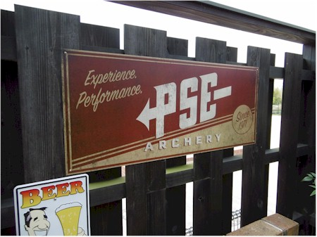 PSE Antique Aluminum Sign